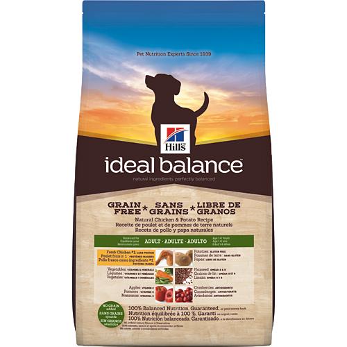 Croquettes sans céréales pour chiens Hill's Ideal Balance No Grain