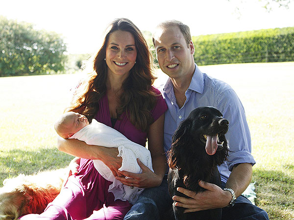 Kate, William, George et Lupo