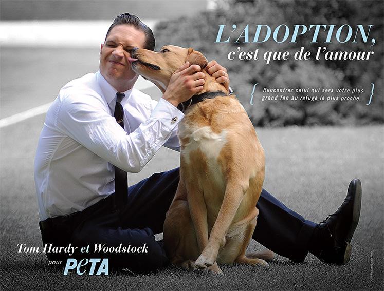 PETA Tom Hardy et son chien