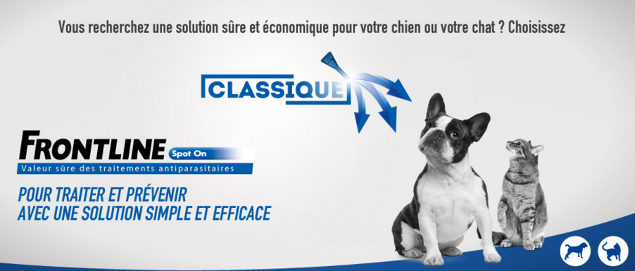 frontline spot on chiens et chats