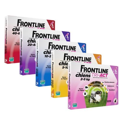 pipettes-frontline-tri-act chiens