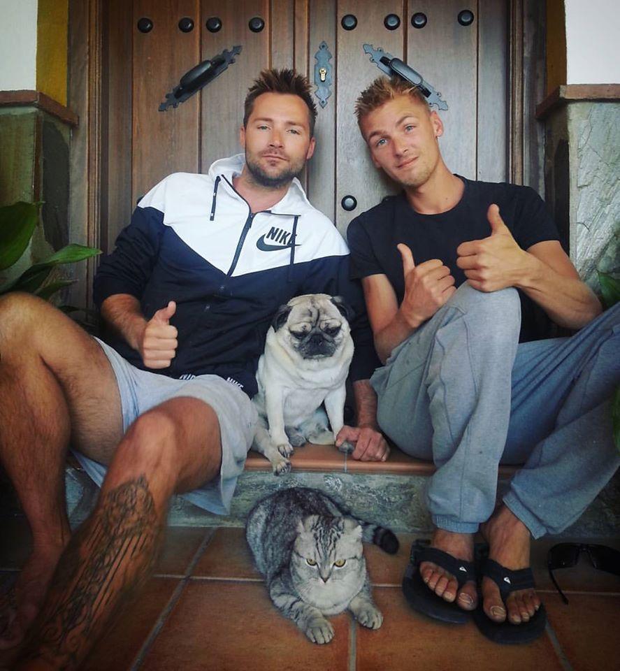 Luigi le chat et Bandito le chien, Finn et Sebastian