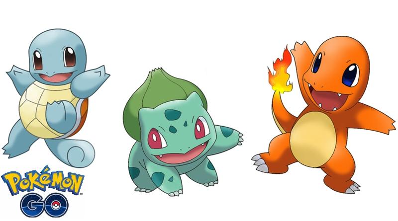 Starters Pokemon Go Carapuce Salamèche Bulbizarre