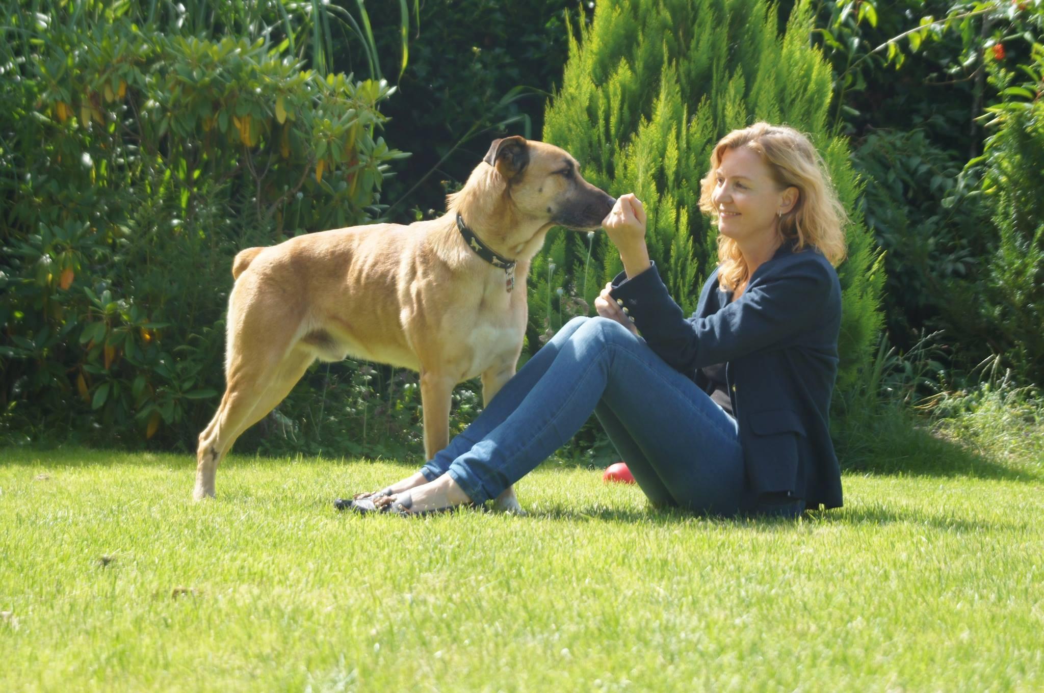 Olivia et Rubio le chien