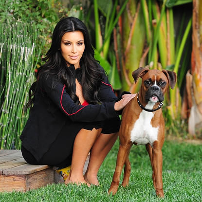 Kim Kardashian et son boxer