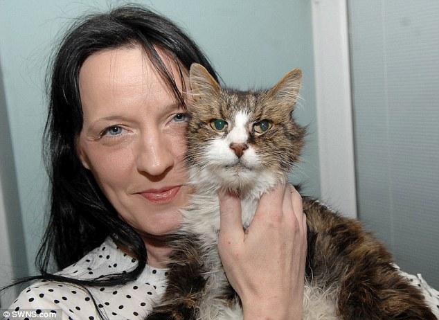 Diane et son chat Misty