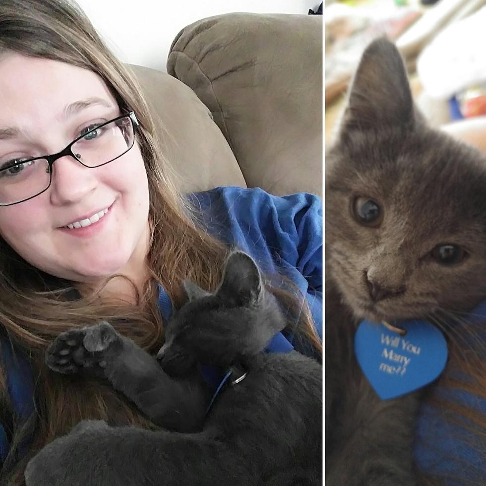 Kat et Gandolf le chaton