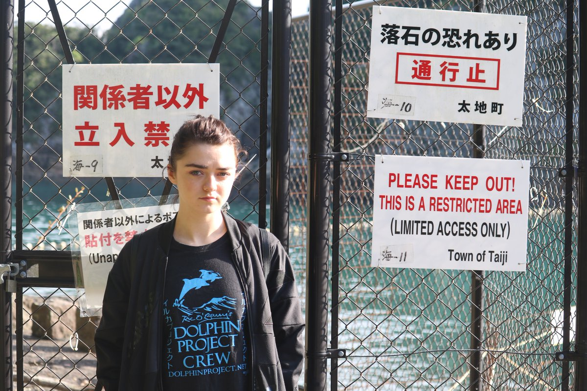 Maisie Williams lutte pour la liberté des dauphins