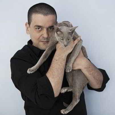 Joann Sfar et son chat Imhotep