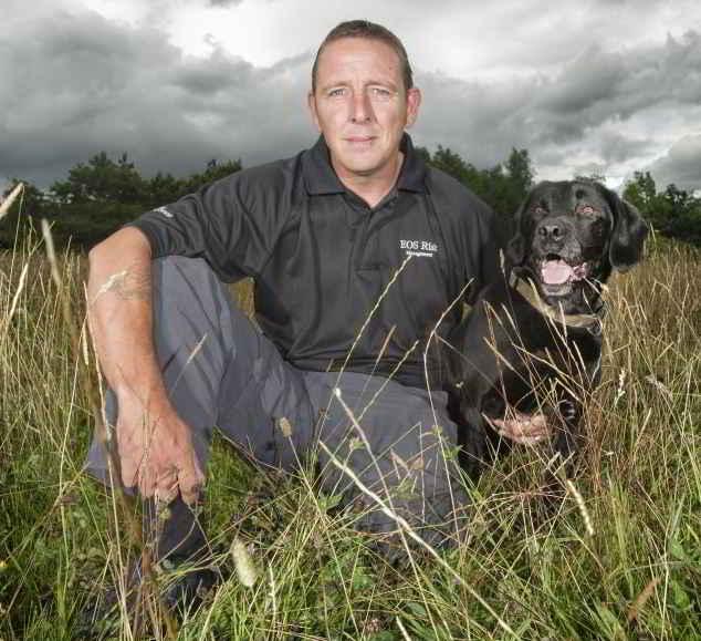 Dave et son Labrador Treo