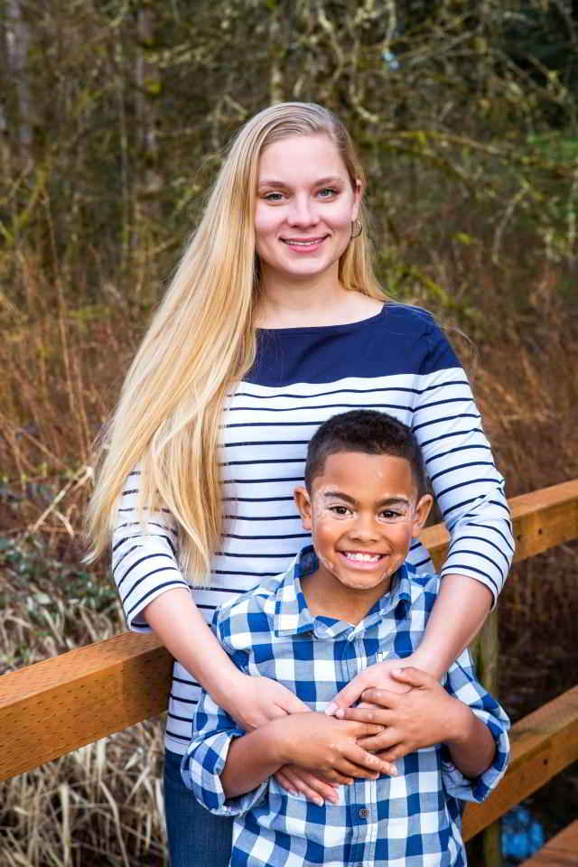 Carter et sa maman Stéphanie
