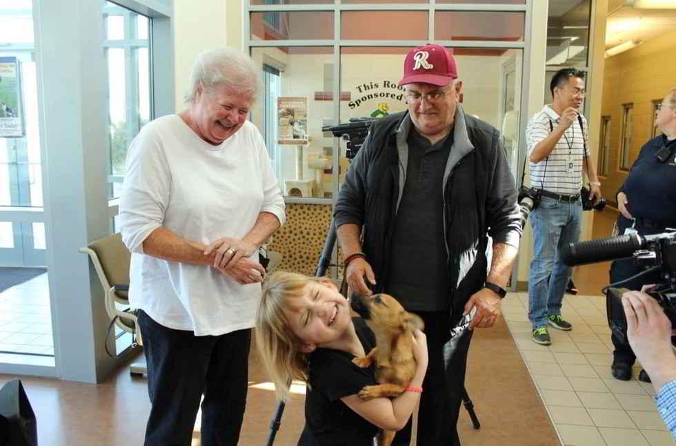 Lucky le petit chien et sa nouvelle famille