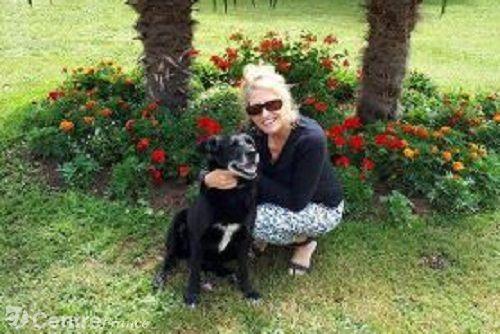 Isabelle et sa chienne Canelle