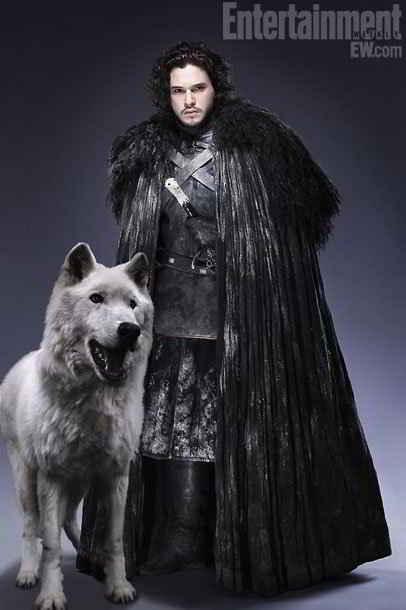 Jon Snow et son loup Fantôme
