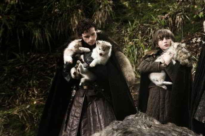 Robb Stark et son loup Vent Gris, Bran Stark et son loup été