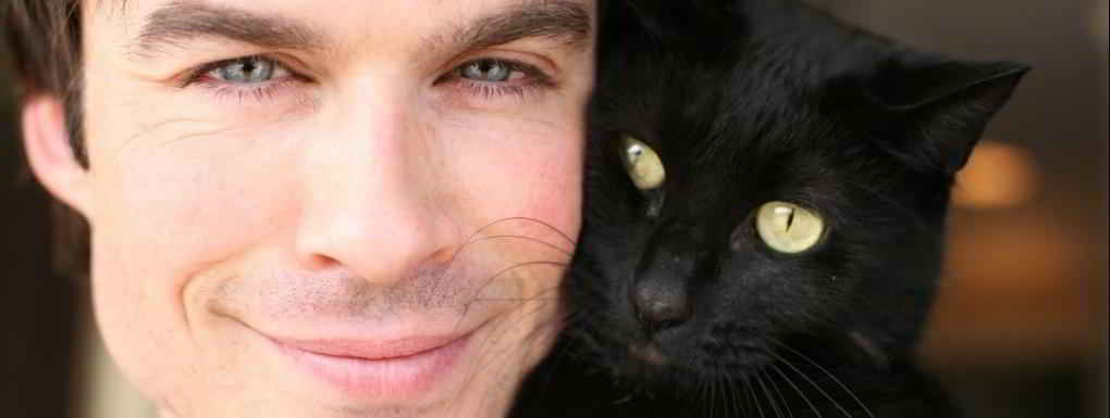 Ian Somerhalder et son chat