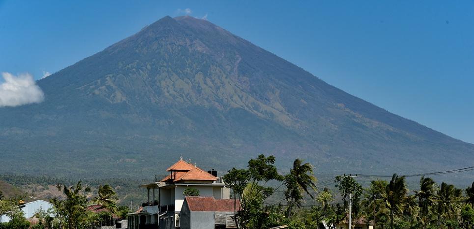 Le volcan Agung à Bali