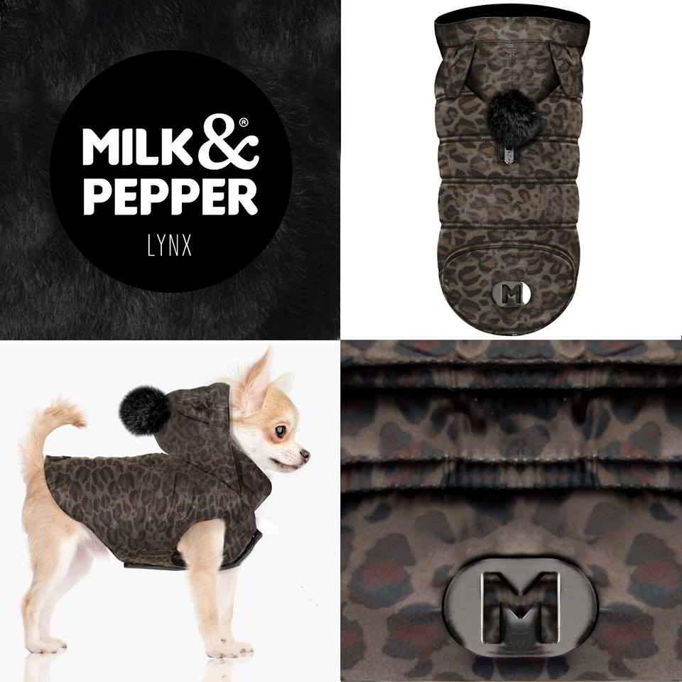 Manteau petits chiens Lynx Milk & Pepper