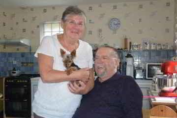 Sylviane et Michel Laurent et Lady la petite chienne
