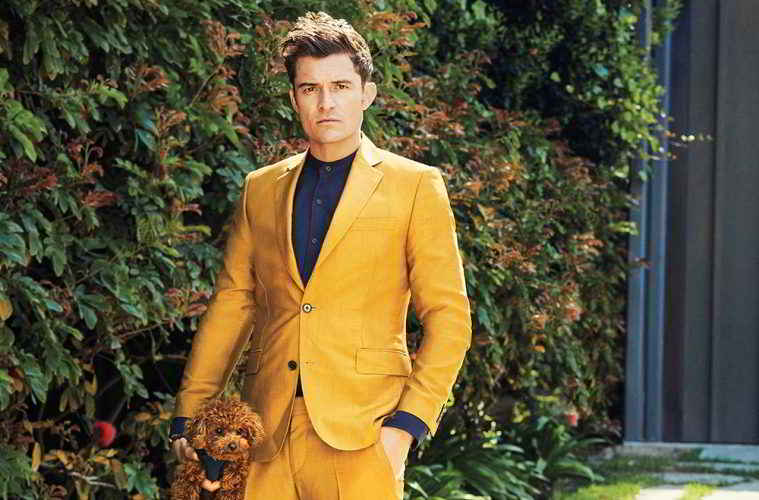 Orlando Bloom et son petit chien Mighty