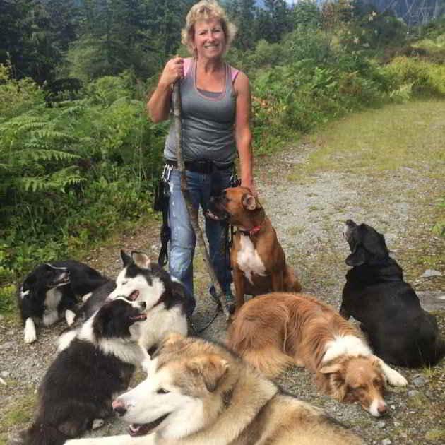 Annette et les chiens