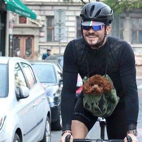 Orlando Bloom et son petit chien Mighty