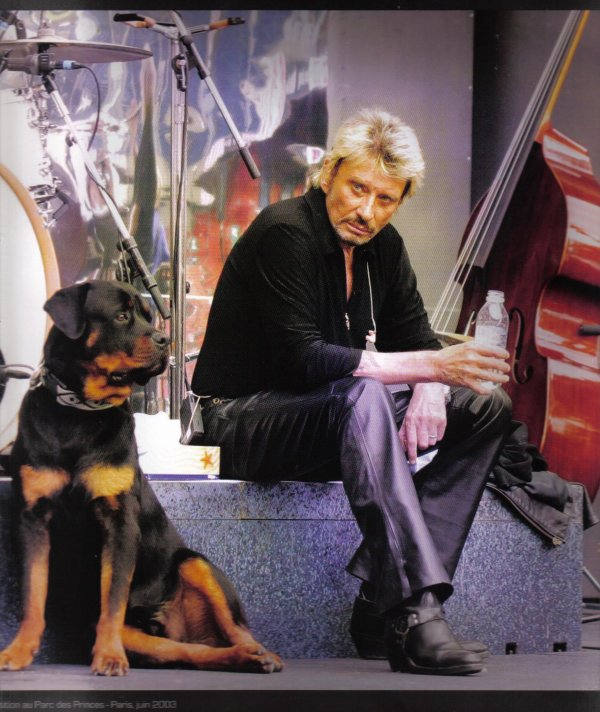 Johnny et son beauceron Tobby
