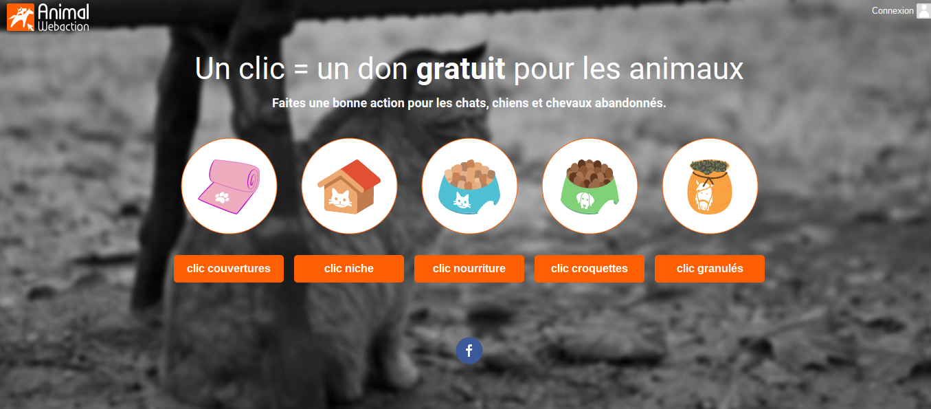 age d'accueil de Animal Webaction