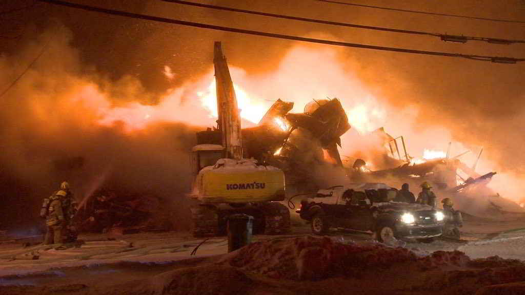 Incendie Crédit photo : Cosmo Santamaria – CTV News