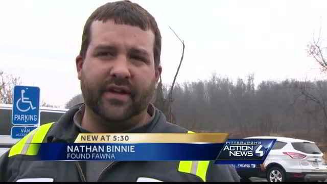 Nathan Binnie qui a sauvé la chienne