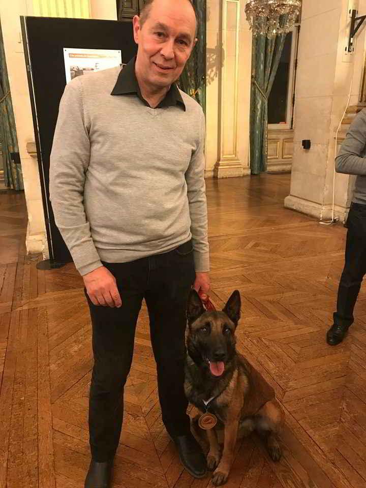 Nykios le Malinois aux trophées des chiens héros