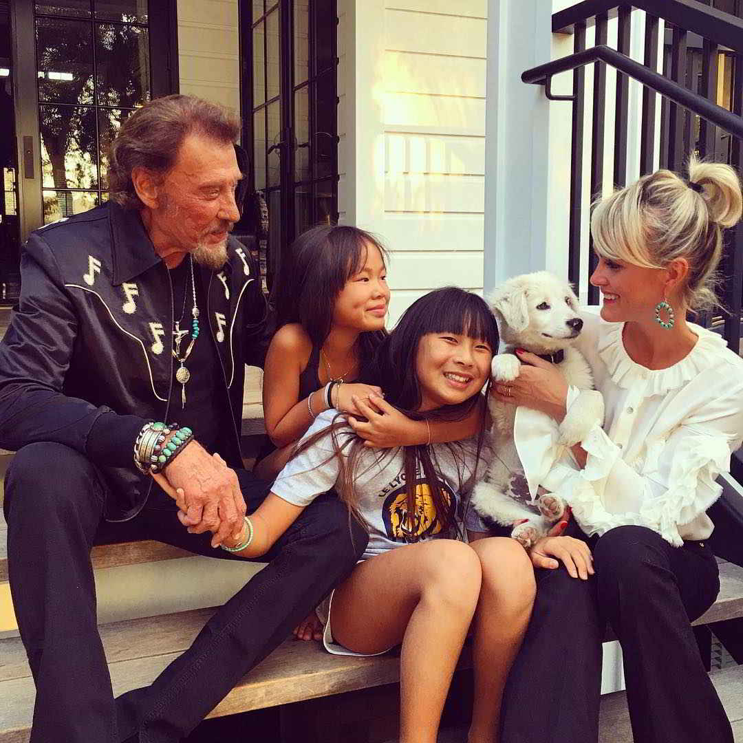 La famille Hallyday et Cheyenne