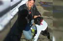 Dustin et son chien Clover
