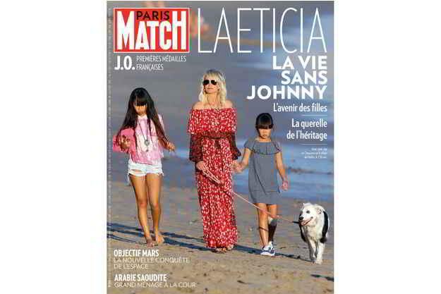 Cheyenne à Los Angeles avec Laeticia Hallyday et les filles