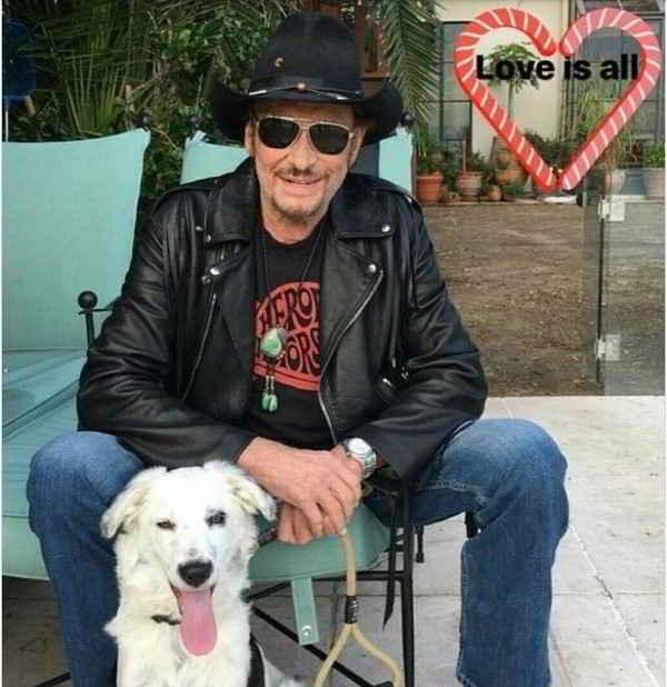 Johnny Hallyday et Cheyenne