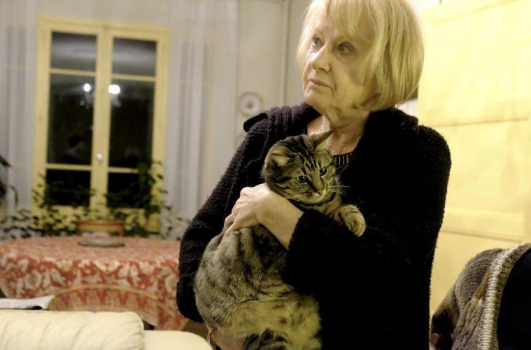 Huguette et son chat Minou