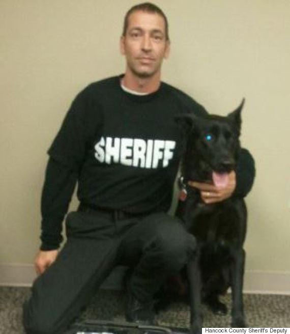 Todd Frazier et son chien policier Lucas