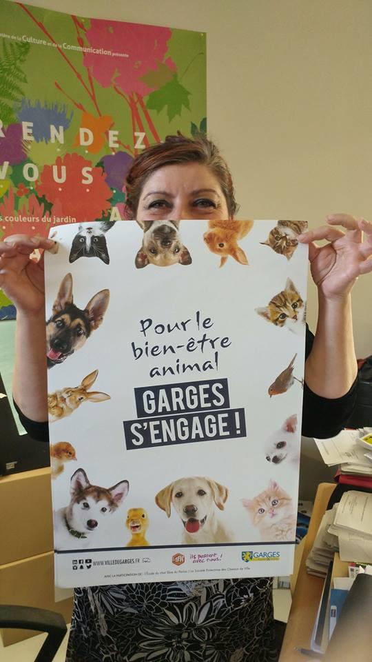 L'affiche pour le bien-être animal