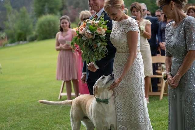 Boone et Angie lors de la cérémonie